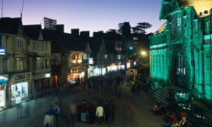 MDG : Ubanization in India : Dusk shopping centre Shimla , Himachal Pradesh