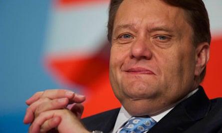 Newly named energy minister John Hayes