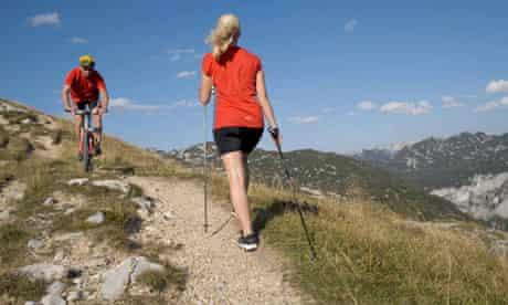 Bike blog : female nordic walker meets mountain biker, Austria, Alps