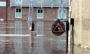 2012 was second wettest on MET record in the UK : Flooding in the city of York