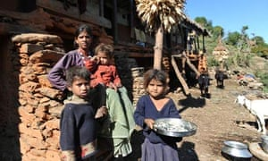 MDG : Nepal : children under five years old health : malnutrition , AIDS and  diarrhoea