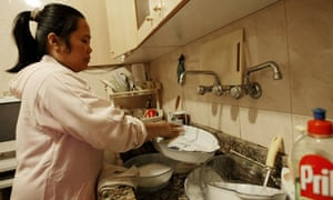 MDG : Domestic workers : A house maid from Philippines in Beirut , Lebanon