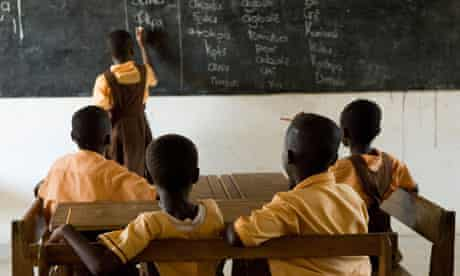 MDG : low-cost private schools : Students at school in Sogakofe, Ghana