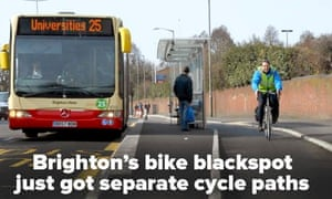 10:10 global its happening campaign : cycle lane in Brighton