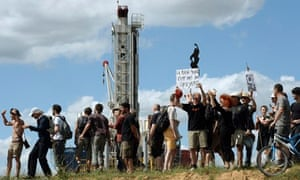 Protest against fracking  for shale gas and shale oil in France