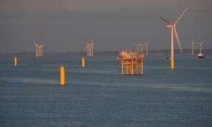 RWE Npower Gwynt Y Mor wind farm under construction