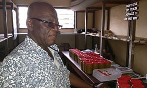 MDG : Brother Patrick at his cashew jam pantry in Kristo Buase, Ghana