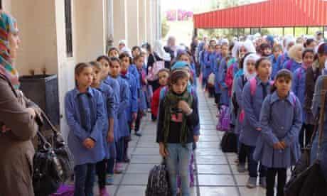 MDG : Syrian refugees girl school in Jordan