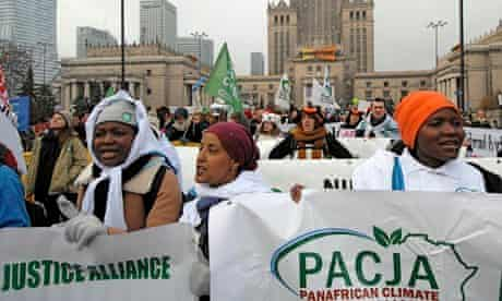 MDG : COP19 in Warsaw : Panafrican Climate Justice Alliance activists from Africa