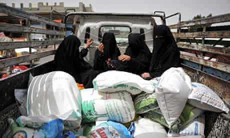 MDG : food aid to malnourished people in Yemen