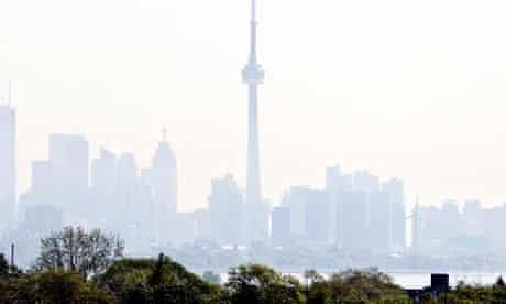 Toronto Skyline With Smog