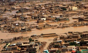Extreme weather in 2013 : area affected by floods caused by heavy rains in Khartoum