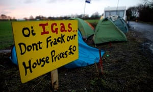 Anti-fracking protest in Barton where iGas drills for shale gas