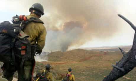 Wildfire near Yarnell Arizona