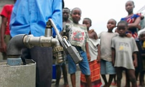 MDG : Privatisation of water : A privately owned water tap in Port Harcourt, Nigeria