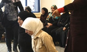 MDG : Syrian women refugees taking part in a version of Trojan Women play