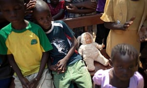 MDG : Christmas Day mass for children in Bangui, Central African Republic