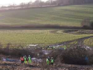 Bexhill - Hastings Bypass protesters remove from Combe Haven camp