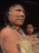Chitonahua tribe member, Manu park in Peruvian Amazon, Peru