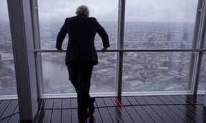 London mayor Boris Johnson looking at London skyline