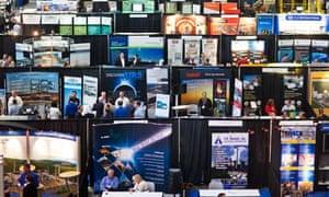 exhibitors promote their oil and gas related businesses : funding climate change deniers