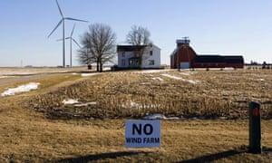 Anti wind farm lobby :  near Shabbona, Illinois
