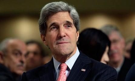 US Secretary of State John Kerry attens the National Prayer Breakfast in Washington