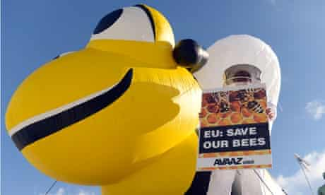 Rally calling on the EU to ban the use of bee poisons and other pesticides in Brussels