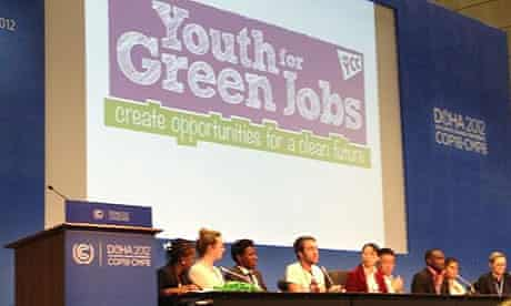 Youth for Green Jobs of Youth Climate Coalition at COP18 in Doha