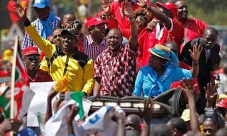 Jubilee Coaliton holds a rally in Nairobi