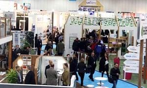 Visitors and exhibitors at Ecobuild 2013