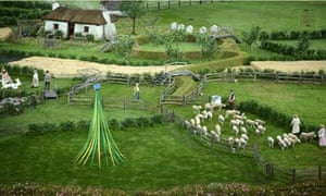 National Trust on British Countryside planning : meadow at opening of the London 2012 Olympics