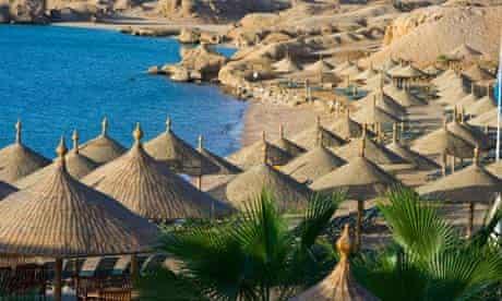 Beach at the Hyatt in Sharm el Sheikh Egypt. Image shot 2009. Exact date unknown.