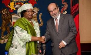 MDG : Malawi : EU Andris Piebalgs, FAO Jose Graziano and President Joyce Banda