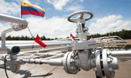 Oil Production in Venezuela : Oil camp in Morichal district of Orinoco Oil Belt, Monagas state