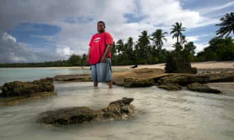 Sea level rising threaten Kiribati and other Pacific Islands