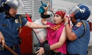 MDG protestor in Manila