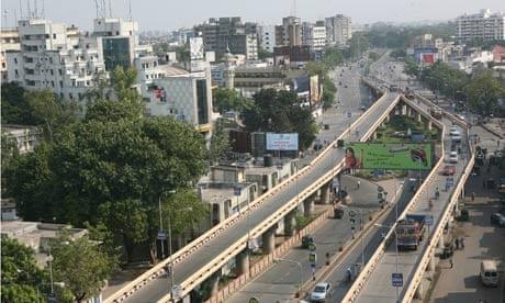 MDG : Urbanization : Aerial View of Surat City in Gujarat, India