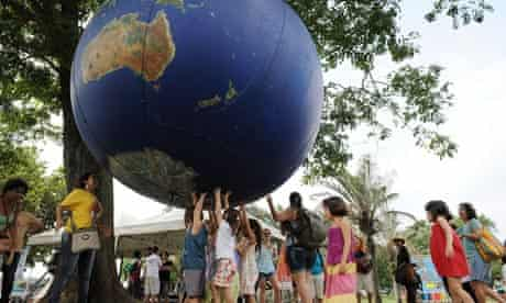 Children fear climate change and global warming : playing with globe