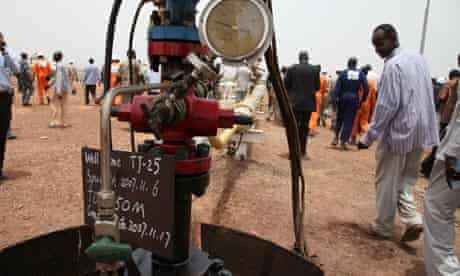 MDG Africa economy : South Sudan new oil well in the Thar Jath field in Unity state
