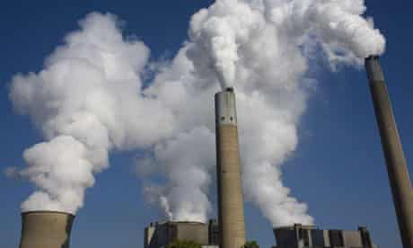 Carbon bubble : carbon dioxide polluting power plant : coal-fired Bruce Mansfield Power Plant