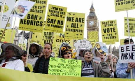 March of the Beekeepers to ban bee harming pesticides., Westminster