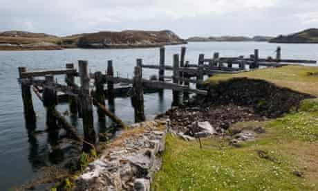 Country Diary : Old pier on Loch Skipport on the Hebridean island of South Uist