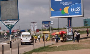 MDG Tigo sign in Accra, Ghana