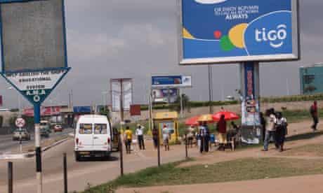 MDG Tigo sign in Accra, Ghana