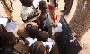 MDG : Millennium Development Goals : Education in Yida camp in South Sudan