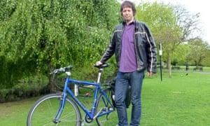 Peter Kimpton has changed his urban bike to road bike to Ride Across  Britain cyclist. c6ff675c7