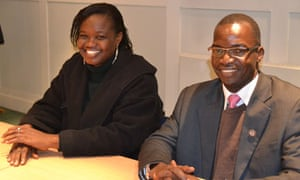 MDG : South Sudan : State Minister for Education Pia Philip Michael and Bridget Nagomoro