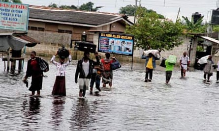 MDG : Natural disaster and displaced people : Niger delta affected by worst flood in 50 years