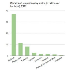MDG land acquisitions graph